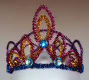 Prinzessinnenkrone aus Pfeifenputzern
