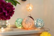 Cotton Ball Lichterkette DIY