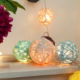 Cotton Ball Lichterkette DIY