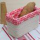 Ein nur-geklebt Brotkörbchen