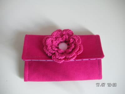 Minigeldbörse mit Blüte