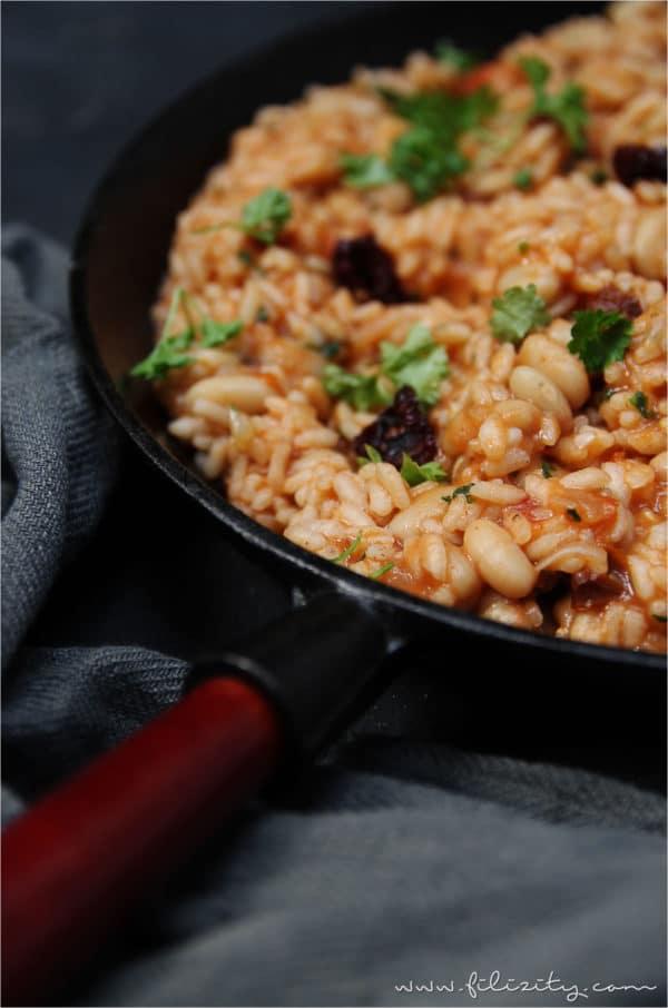 One Pot Reis mit weißen Bohnen
