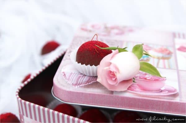 Himbeer Pralinen Zum Valentinstag