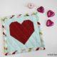 Do it- Valentinstag: genähte Herz-Untersetzer
