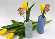 DIY – Getränkedosen als Vasen: Oster Deko selbst machen