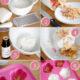 Seife mit Rosenblüten