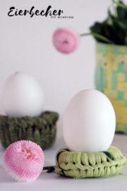 Eierbecher mit Jersey-Garn