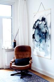 DIY-Aquarell-Bild ohne Pinsel und Farbe