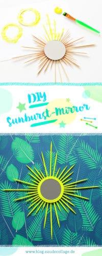 DIY SUNBURST MIRROR SELBER MACHEN / SONNENSPIEGEL BASTELN