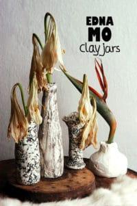 DIY-Upcycling-Vasen mit Modelliermasse