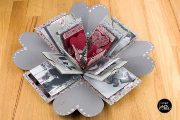 basteln valentins explosionsbox handmade kultur. Black Bedroom Furniture Sets. Home Design Ideas