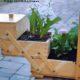 DIY- ein altes Nähkästchen als Deko für den Hauseingang