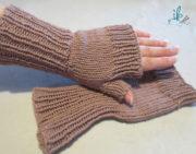 Handstulpen oder fingerlose Handschuhe Strickanleitung