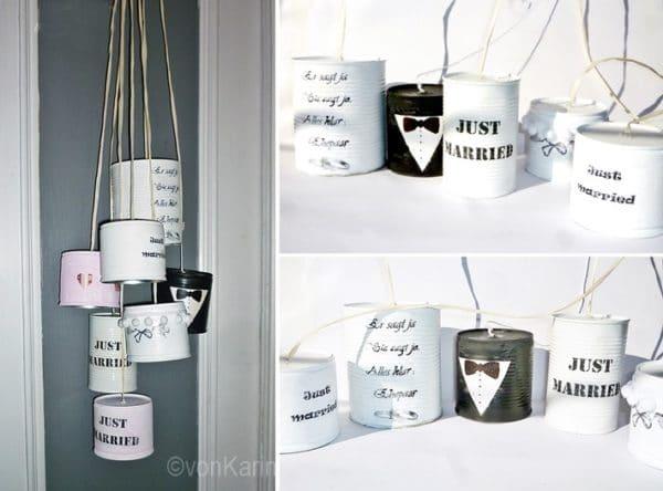 Hochzeitsdosen Ein Dosen Upcycling Handmade Kultur