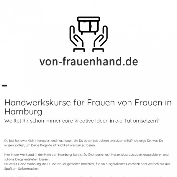 Tischler- und Polsterkurse - Von Frauenhand - Handwerkskurse für Frauen