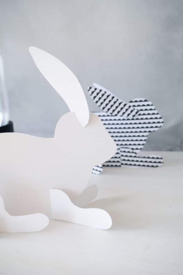 3D-Hasen aus Papier