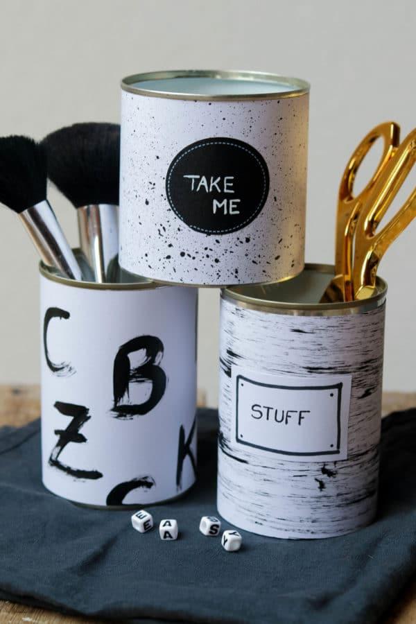 Utensilos/ Stiftehalter in schwarz/weiß