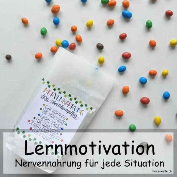 Geschenkidee: Nervennahrung als Lernmotivation