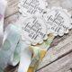 Lesezeichen aus SnapPap mit bestempelten Bändern