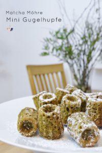 Matcha Mini Gugelhupf mit Möhren | Mohntage