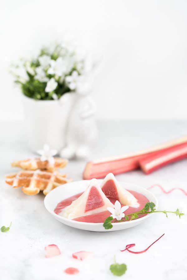Rhabarber-Vanille-Eis