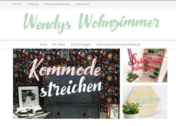 Wendys Wohnzimmer ⋆ DIY Blog für Möbel, Dekoration, Interior, Food