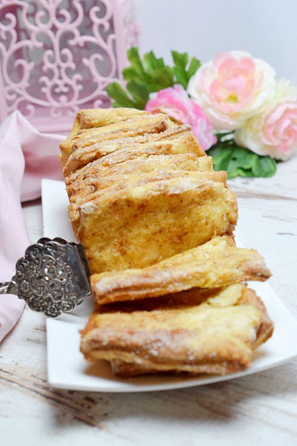 Zupfbrot aus Hefeteig mit Zimt verfeinert