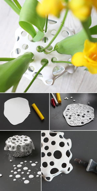 Vasenaufsatz aus Fimo