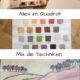Aquarellmalerei mit 3 Farben Alles im Quadrat / Mix die Techniken