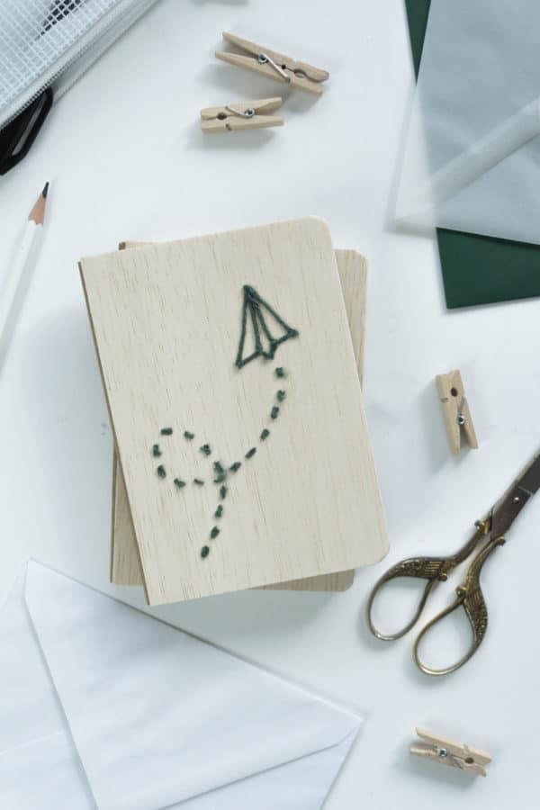 DIY Balsa Bücher mit Baumwoll-Print