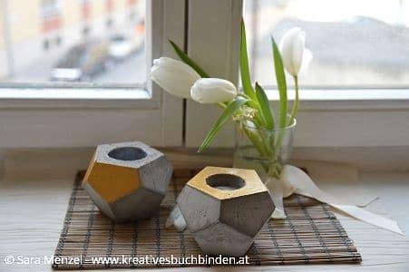 beton gie en teelicht handmade kultur. Black Bedroom Furniture Sets. Home Design Ideas