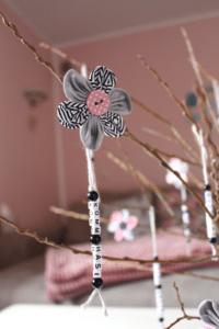 Buchstaben und Blüten – ein österliches DIY