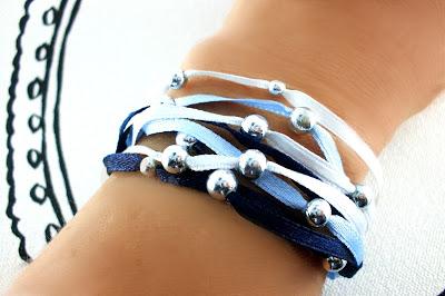 DIY-feines Armband aus Satinbändern