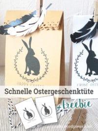 DIY - Schnelle Ostergeschenktüte aus einem Briefumschlag