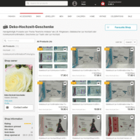 Deko-Hochzeit-Geschenke - 39 einzigartige Produkte ab € 9.99 bei DaWanda