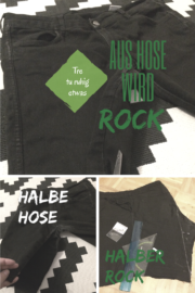 Aus Hose wird Rock - Jeans upcycling refashion recycling