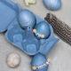 Rotkohlgefärbte Eier