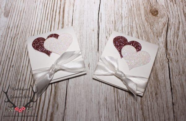 Gastgeschenk mit Merci Herzen zur Hochzeit