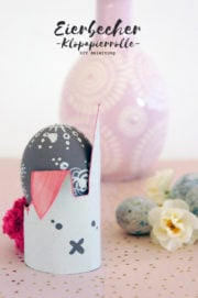 Emo-Bunnys aus recycelten Klopapierrollen