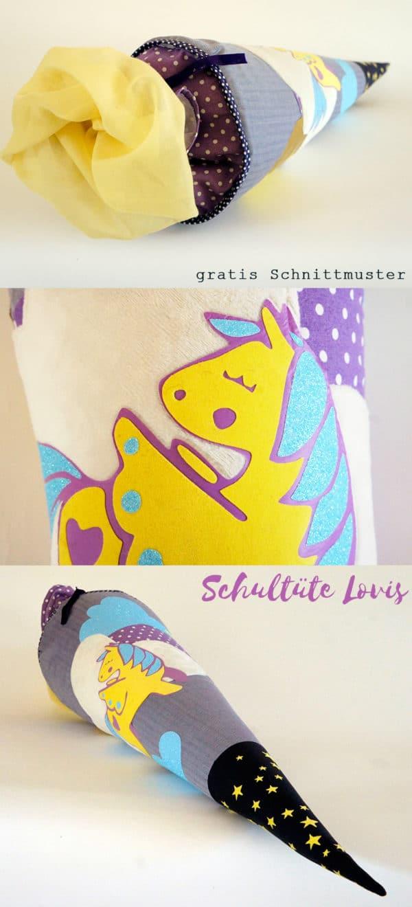 "Schultüte ""Lovis"" gratis Schnittmuster"