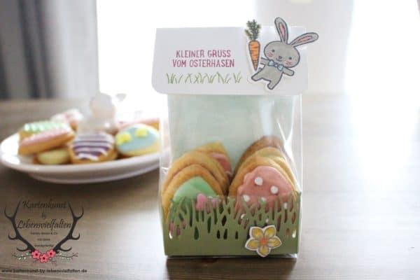 Plätzchenverpackung mit dem Produktpaket Osterkörbchen