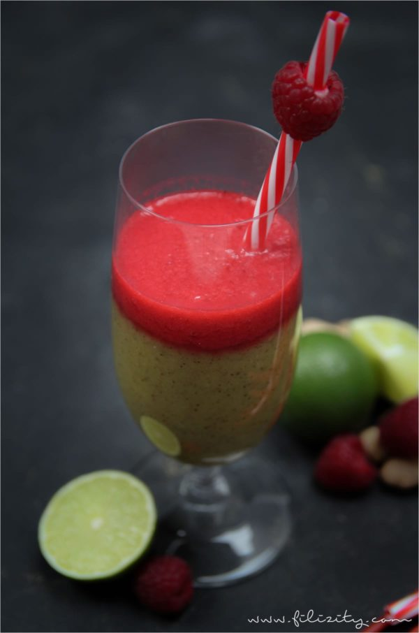 Kiwi-Ananas-Himbeer-Smoothie