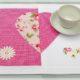 DIY zum Muttertag : Tischset mit Herz, einfach und schnell genäht