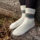 Socken mit Fair Isle Muster
