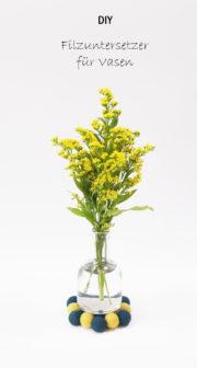 Untersetzer aus Filz für Vasen