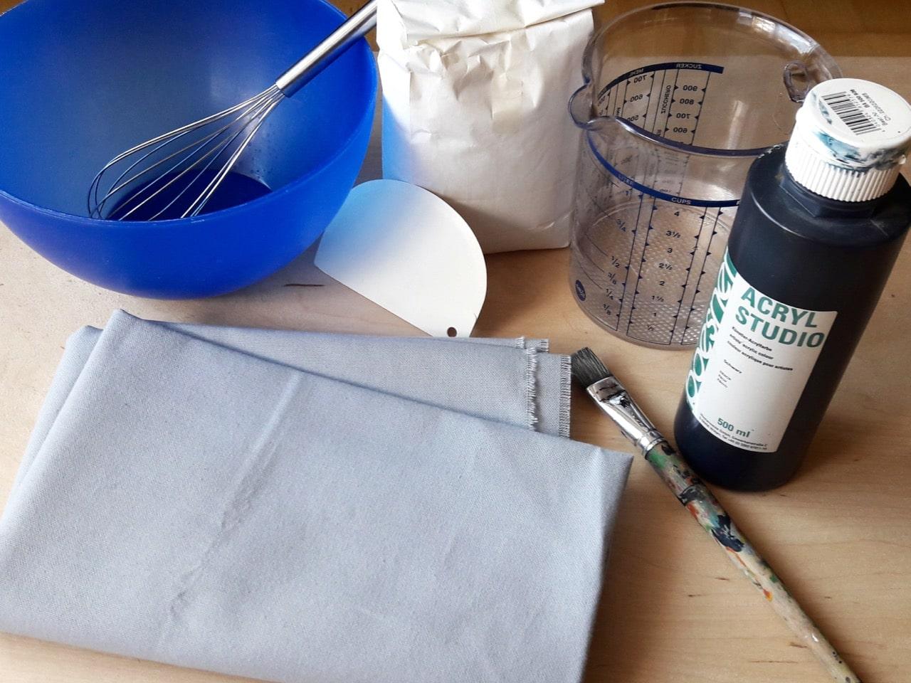 crackle it krakelier effekt auf stoff handmade kultur. Black Bedroom Furniture Sets. Home Design Ideas