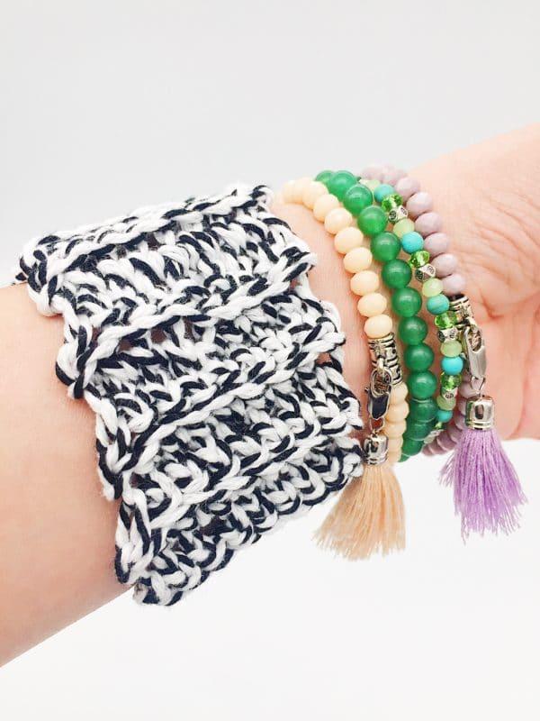 DIY - Armband aus Biobaumwolle selbst häkeln