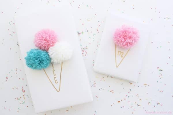 DIY Eis-Pompoms Verpackung