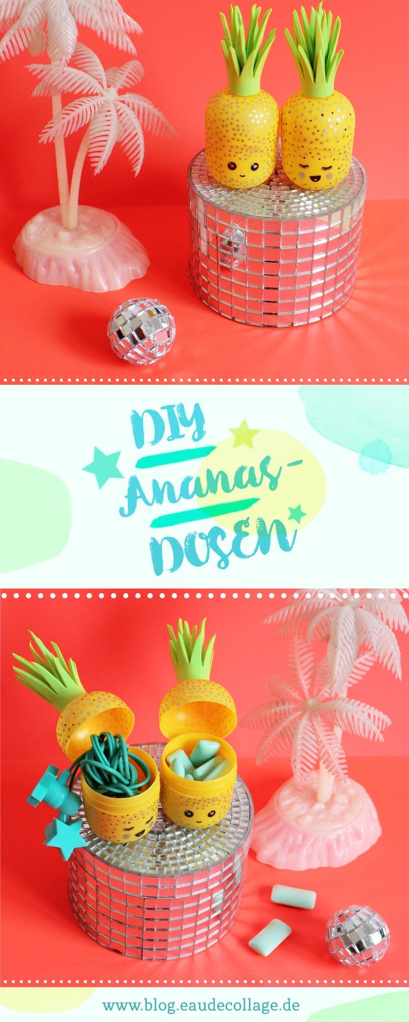 diy ananas kopfh rer aufbewahrung handmade kultur. Black Bedroom Furniture Sets. Home Design Ideas