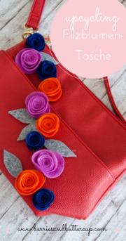 DIY: Tasche mit Filzblumen aufhübschen